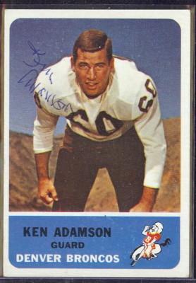 autographed 1962 fleer ken adamson
