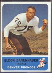 autographed 1962 fleer eldon danenhauer
