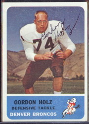 autographed 1962 fleer gordon holz