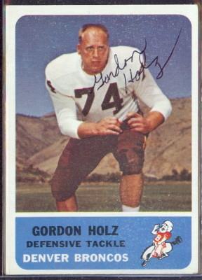 autographed 1962 fleer gordon holz