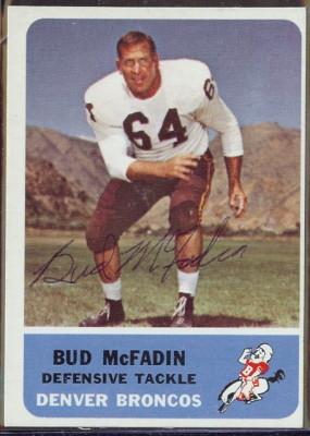 autographed 1962 fleer bud mcfadin