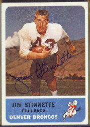autographed 1962 fleer jim stinnette