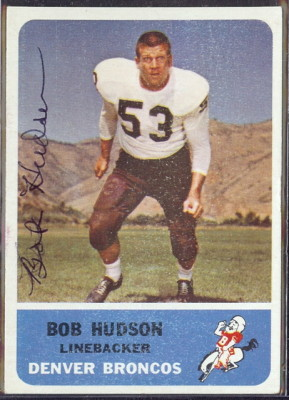 autographed 1962 fleer bob hudson