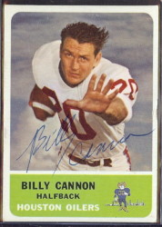 autographed 1962 fleer billy cannon
