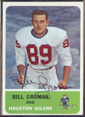 autographed 1962 fleer bill groman