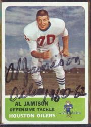 autographed 1962 fleer al jamison