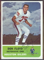 autographed 1962 fleer don floyd