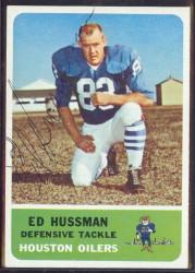 autographed 1962 fleer ed husmann