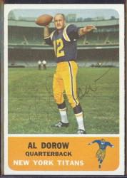 autographed 1962 fleer al dorow