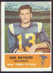 autographed 1962 fleer don maynard