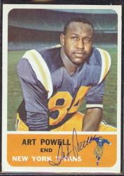 autographed 1962 fleer art powell