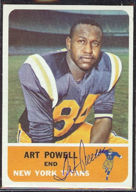 autographed 1962 fleer art powell