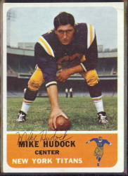 autographed 1962 fleer mike hudock