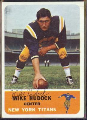autographed 1962 fleer mike hudock