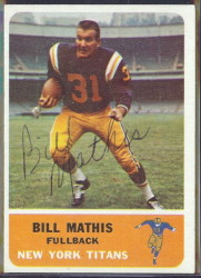autographed 1962 fleer bill mathis