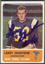 autographed 1962 fleer larry grantham