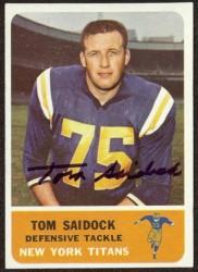 autographed 1962 fleer tom saidock