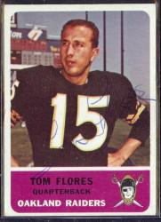autographed 1962 fleer tom flores
