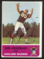 autographed 1962 fleer bob coolbaugh
