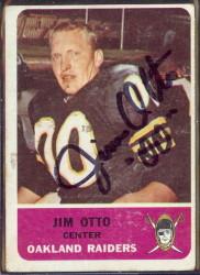 autographed 1962 fleer jim otto