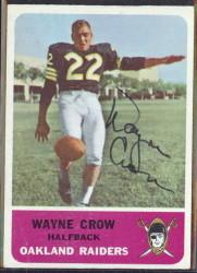 autographed 1962 fleer wayne crow