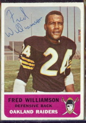 autographed 1962 fleer fred williamson
