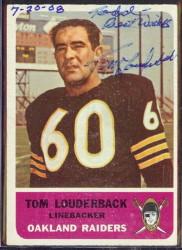 autographed 1962 fleer tom louderback
