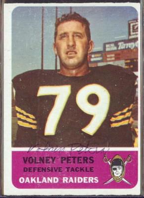 autographed 1962 fleer volney peters