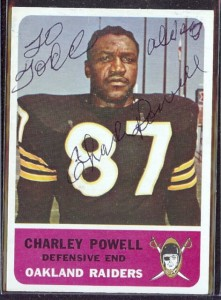 autographed 1962 fleer charley powell