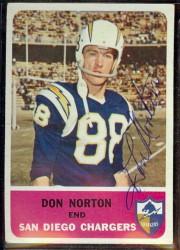 autographed 1962 fleer don norton