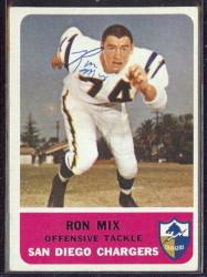 autographed 1962 fleer ron mix