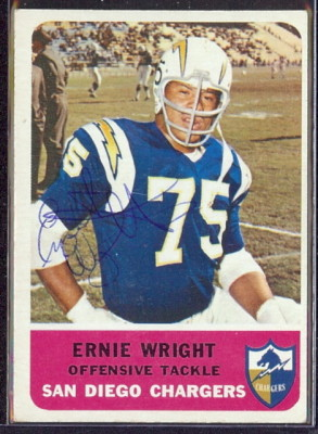 autographed 1962 fleer ernie wright