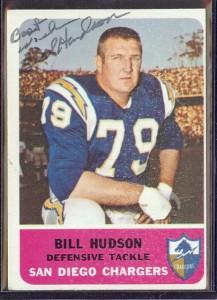 autographed 1962 fleer bill hudson