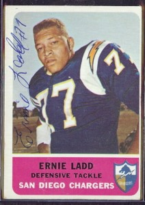 Autographed 1962 Fleer Ernie Ladd