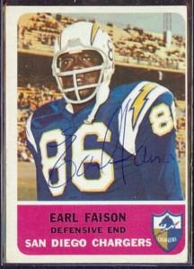 Autographed 1962 Fleer Earl Faison