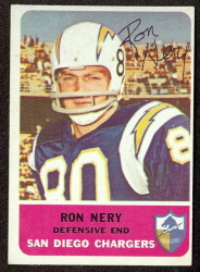 autographed 1962 fleer ron nery