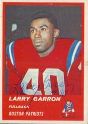 Autographed 1963 Fleer Larry Garron