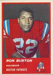 Autographed 1963 Fleer Ron Burton
