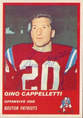 Autographed 1963 Fleer Gino Cappelletti