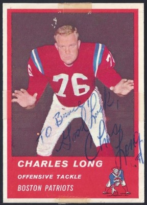 autographed 1963 fleer charles long