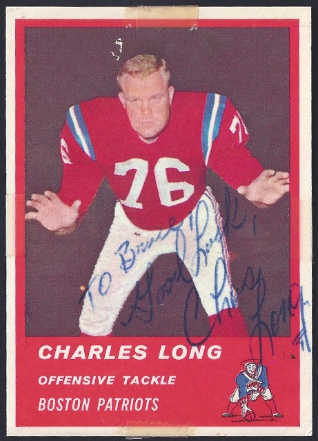 autographed 1963 fleer charles long