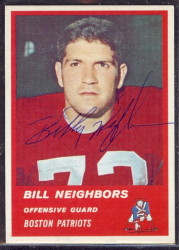 Autographed 1963 Fleer Bill Neighbors