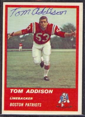 Autographed 1963 Fleer Tom Addison