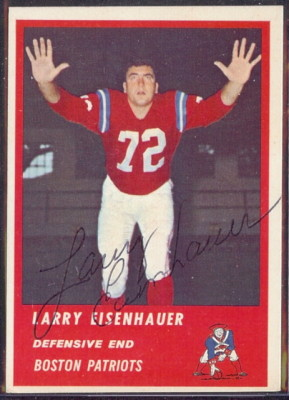 Autographed 1963 Fleer Larry Eisenhauer
