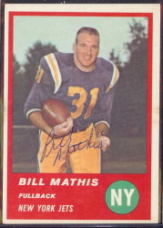 Autographed 1963 Fleer Bill Mathis