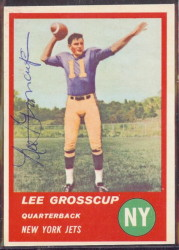 Autographed 1963 Fleer Lee Grosscup