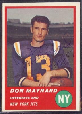 Autographed 1963 Fleer Don Maynard