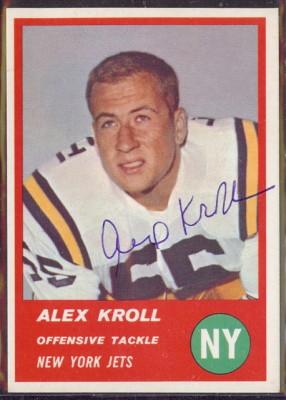 Autographed 1963 Fleer Alex Kroll
