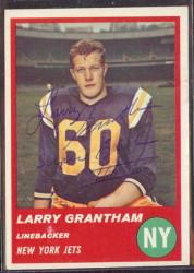 Autographed 1963 Fleer Larry Grantham