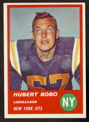 Autographed 1963 Fleer Hubert Bobo